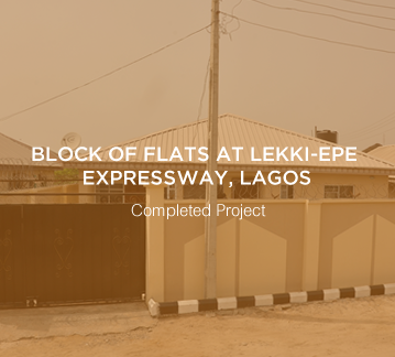 Block of Flats at Lekki-Epe Expressway, Lagos